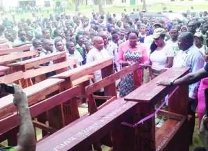 Corps member donates desks to Katsina school