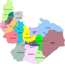 Map of Plateau state, showing Mangu L.G