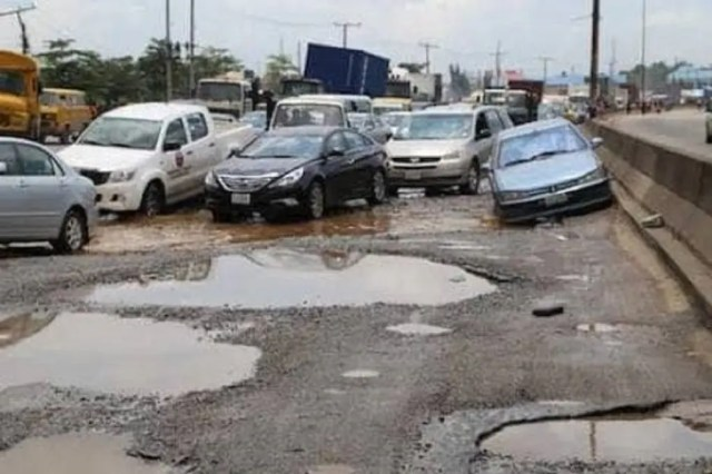 Anguish, uproar as Lagos road collapses