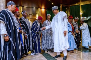 President Buhari receives courtesy visit from Benue delegates