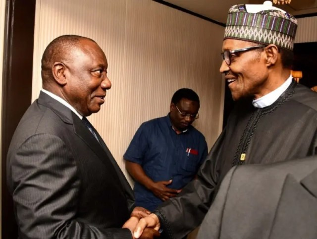 Buhari meets Ramaphosa, condemns attacks on Nigerians, other nationals