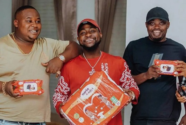 Davido's unborn son gets endorsement deal with Mario & Juliet Diapers