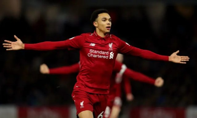 Liverpool's right back, Alexander-Arnold, eyes captain's armband