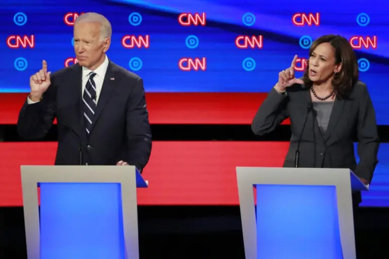 Democratic debate: Warren brushes off Harris' call to kick Trump off Twitter