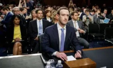 Facebook, Mark Zuckerberg testifies before on Capitol Hill in 2018 following the privacy scandal.