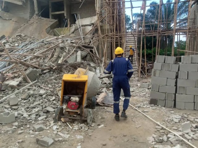 Image result for One person killed, four rescued in Ikoyi building collapse
