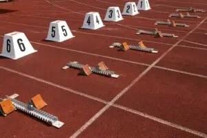 Athletics starting blocks