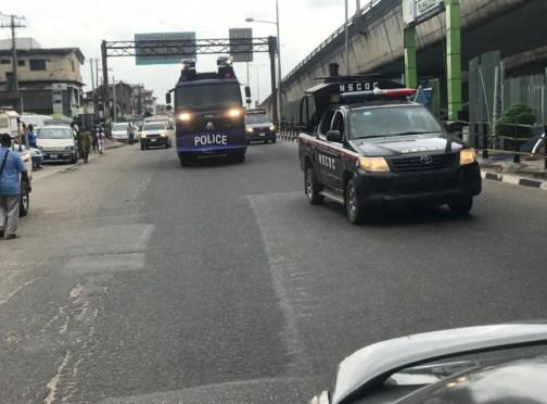 Security operatives Yoruba Nation Rally
