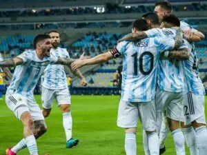 Messi floats ball into goal in win over Uruguay