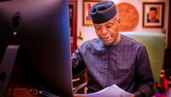 Osinbajo commends restructuring of Nigeria's stock exchange