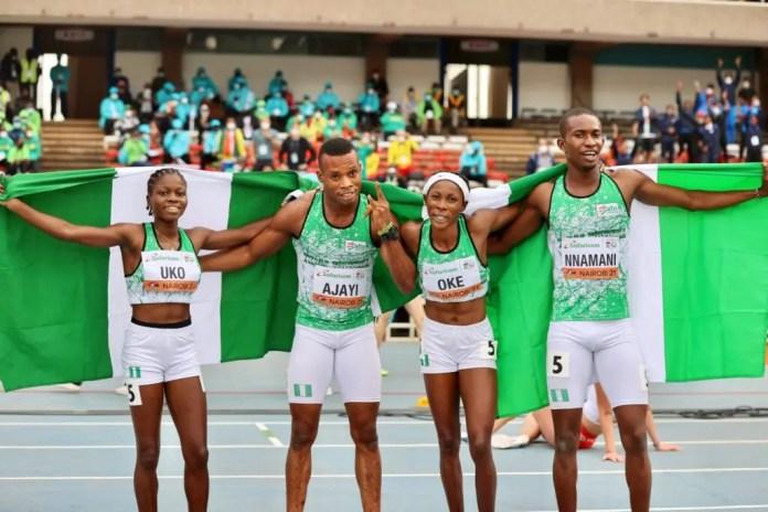 Nigeria wins inaugural 4x400m mixed relay gold