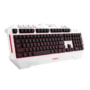 ASUS Cerberus Arctic Renkli LED Aydınlatma Beyaz Renk Türkçe Gaming Klavye