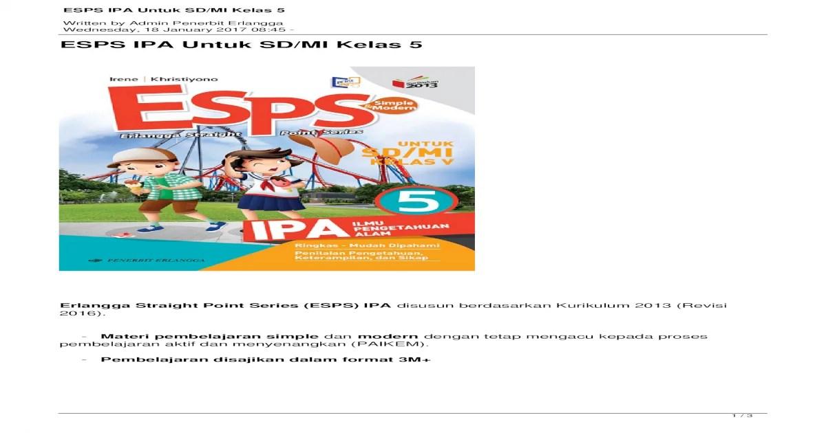 Buku siswa matematika sma ma kelas x kelompok wajib 1 file s 13 48 mb. Download Buku Esps Ipa Kelas 5 - Info Terkait Buku