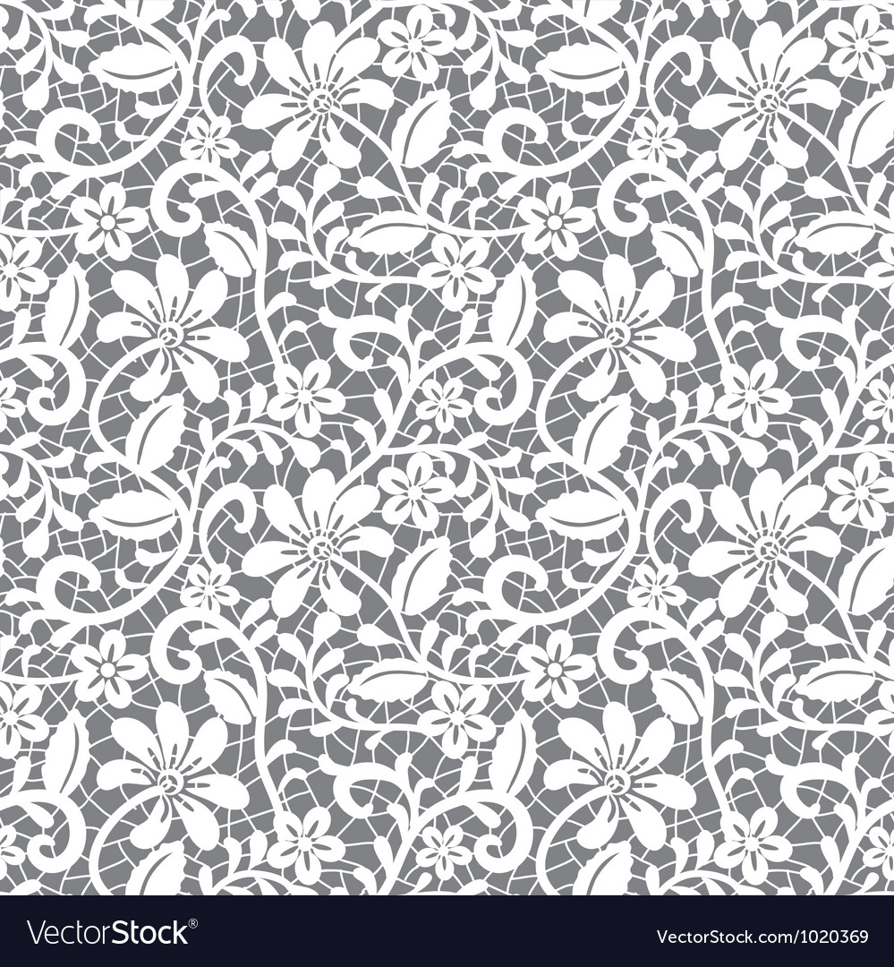 White Guipure Royalty Free Vector Image VectorStock