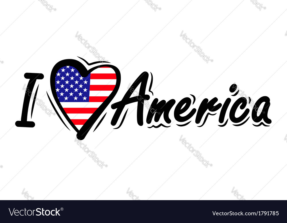 Download I Love USA Royalty Free Vector Image - VectorStock