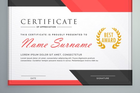 modern certificate of appreciation design hcsclub tk modern certificate triangle background frame design template eps