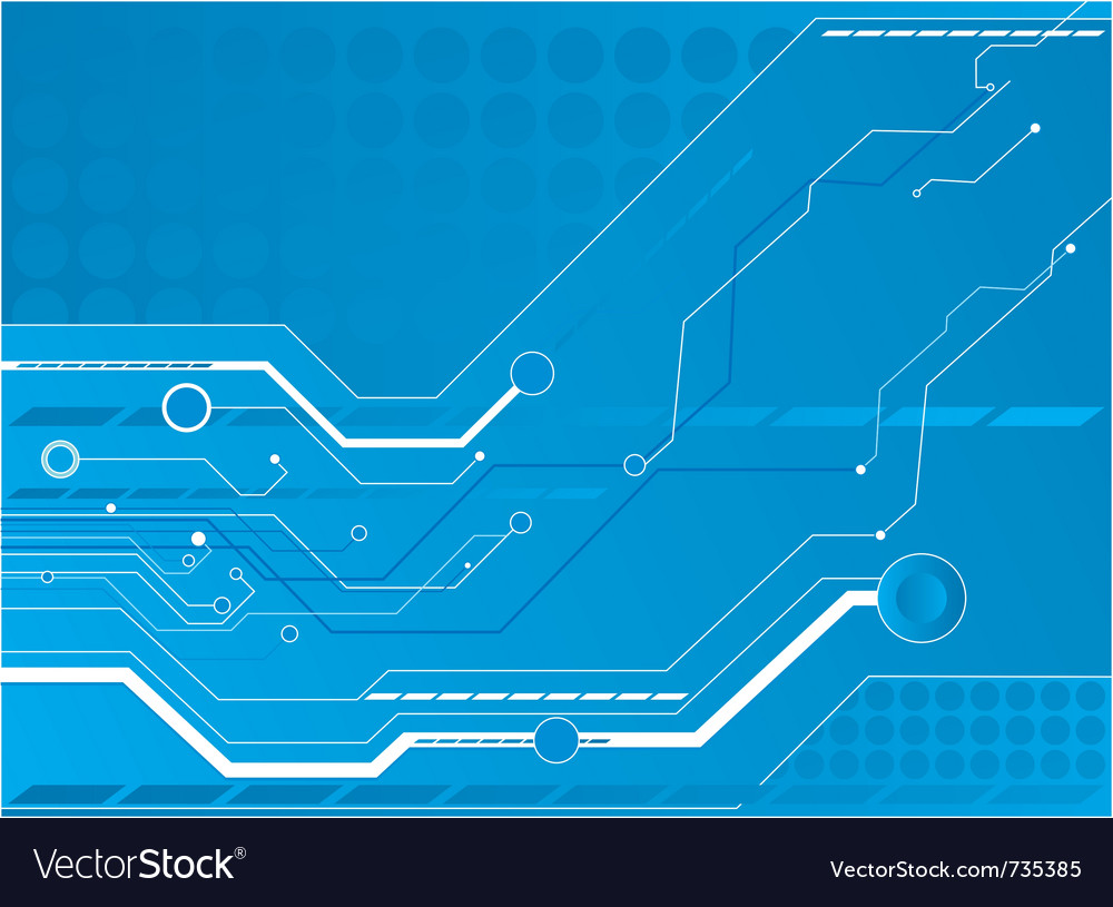 Blue Circuit Board Background Royalty Free Vector Image