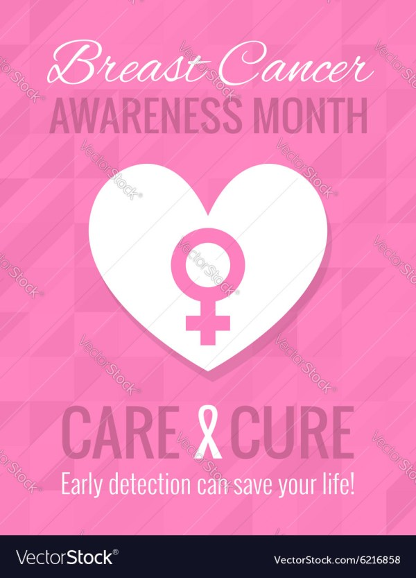 Breast Cancer Awareness Poster Royalty Free Vector Image