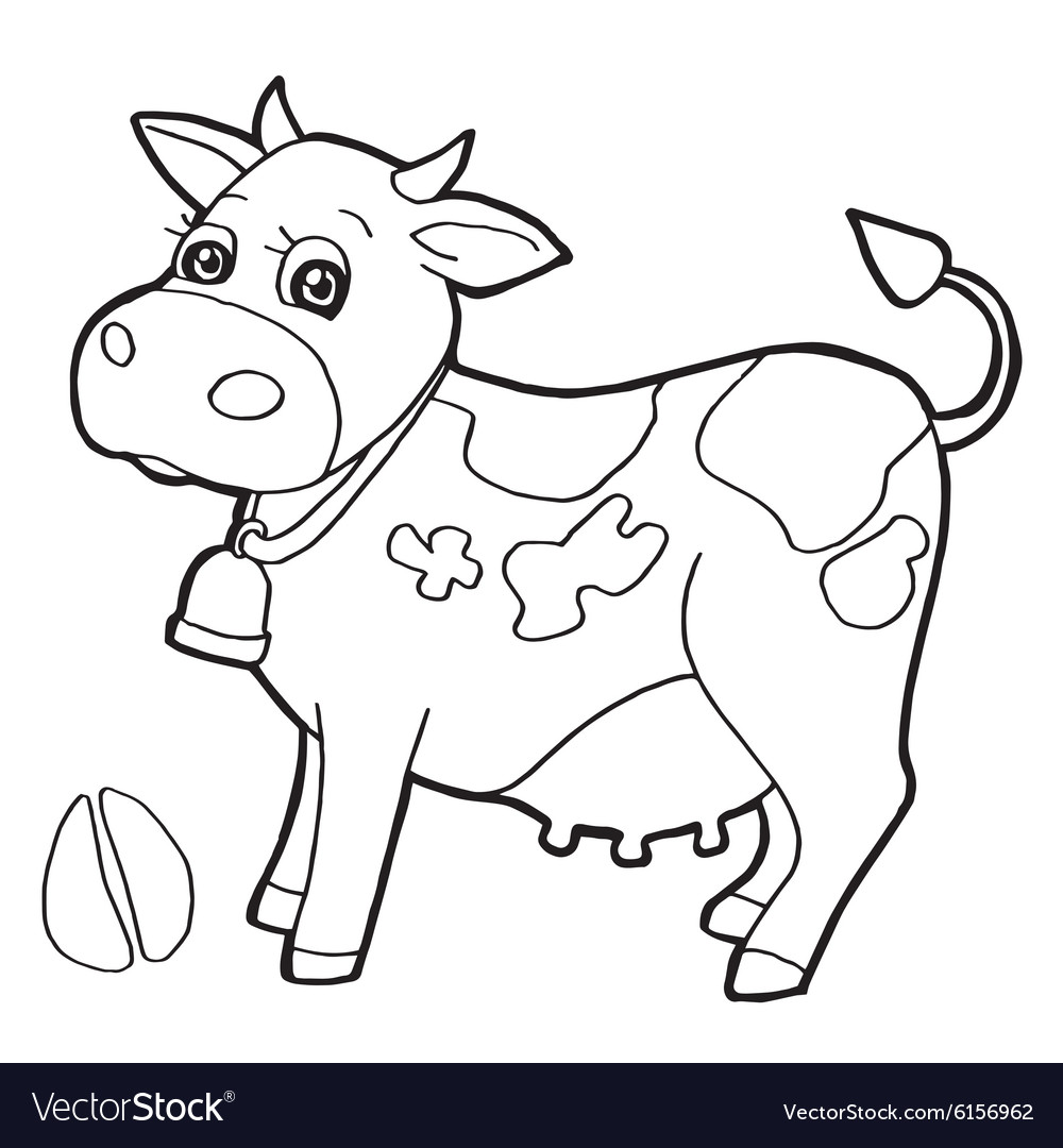 Free Coloring Pages Download Cattle With Paw Print Royalty Vector Of