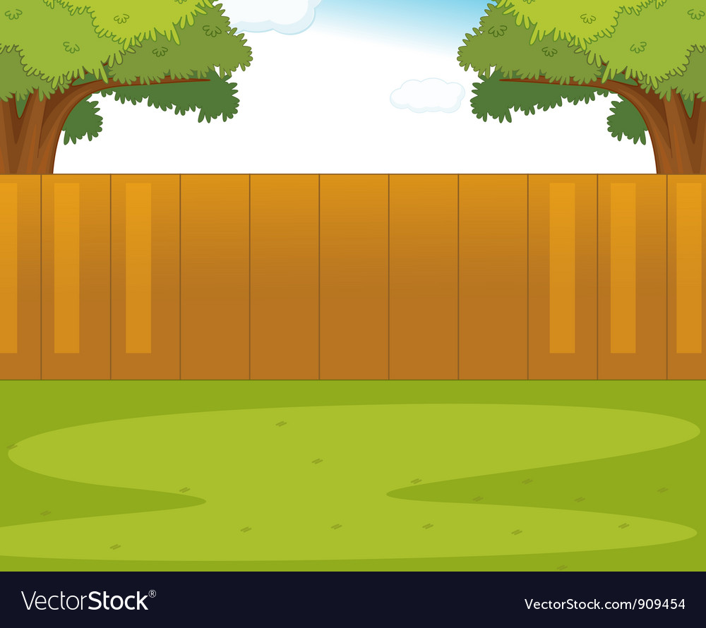 Fenced Yard Clip Art