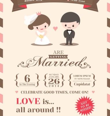 Bunting Free Printable Wedding Invitation Templates