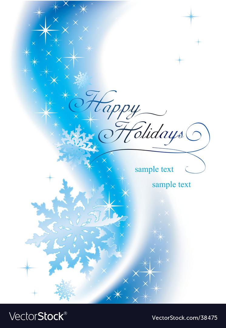 Happy Holidays Vector By Azzzya Image 38475 VectorStock