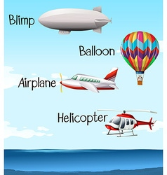 Set Of Sea And Air Transport Royalty Free Vector Image