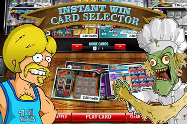 Instant win card selector