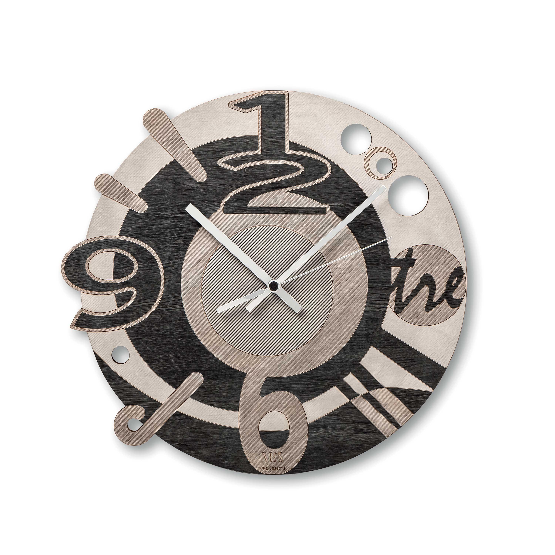 orologio da parete moderno con doppio quadrante. Ves Design Orologio Da Parete In Legno Dal Design Moderno Per Cucina O Soggiorno Miro
