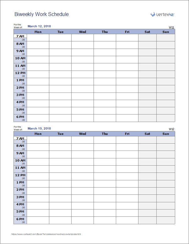 Know what your company's demands are for the week, then supply enough empl. Work Schedule Template For Excel