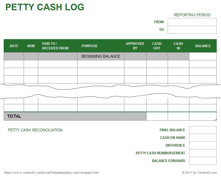 Cash Sheet Templates