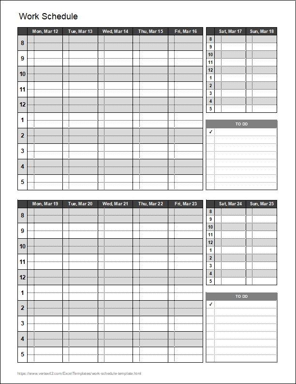 His expertise is featured across fit small busi. Work Schedule Template For Excel