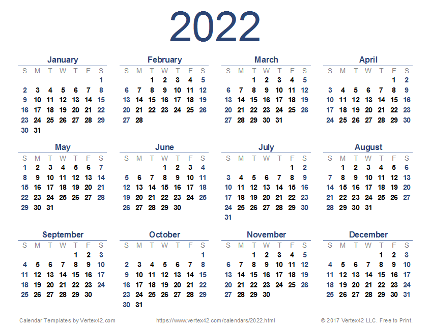 yearly plans available calendar expressing months for the purpose of the years 2022. 2022 Calendar Templates and Images