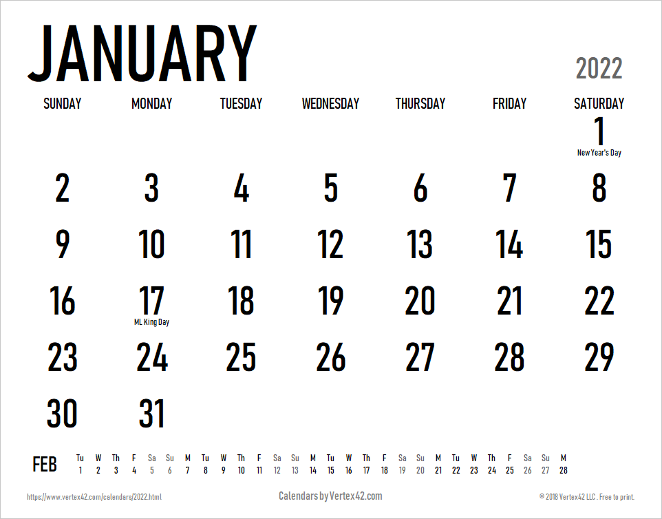Sometimes it is handy to have a calendar for your current month on your cubical wall. 2022 Calendar Templates and Images