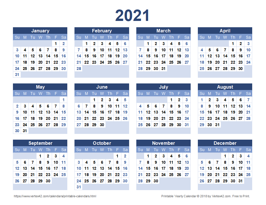 04/09/2021· below are year 2021 printable calendars you're welcome to download and print. 2021 Calendar Templates and Images