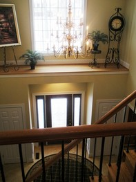 Grand Foyer is two stories high