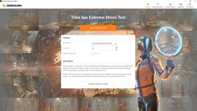 Time Spy Extreme Stress Test Time Spy Extreme by 3DMark   Check out the 4K DX12 benchmark