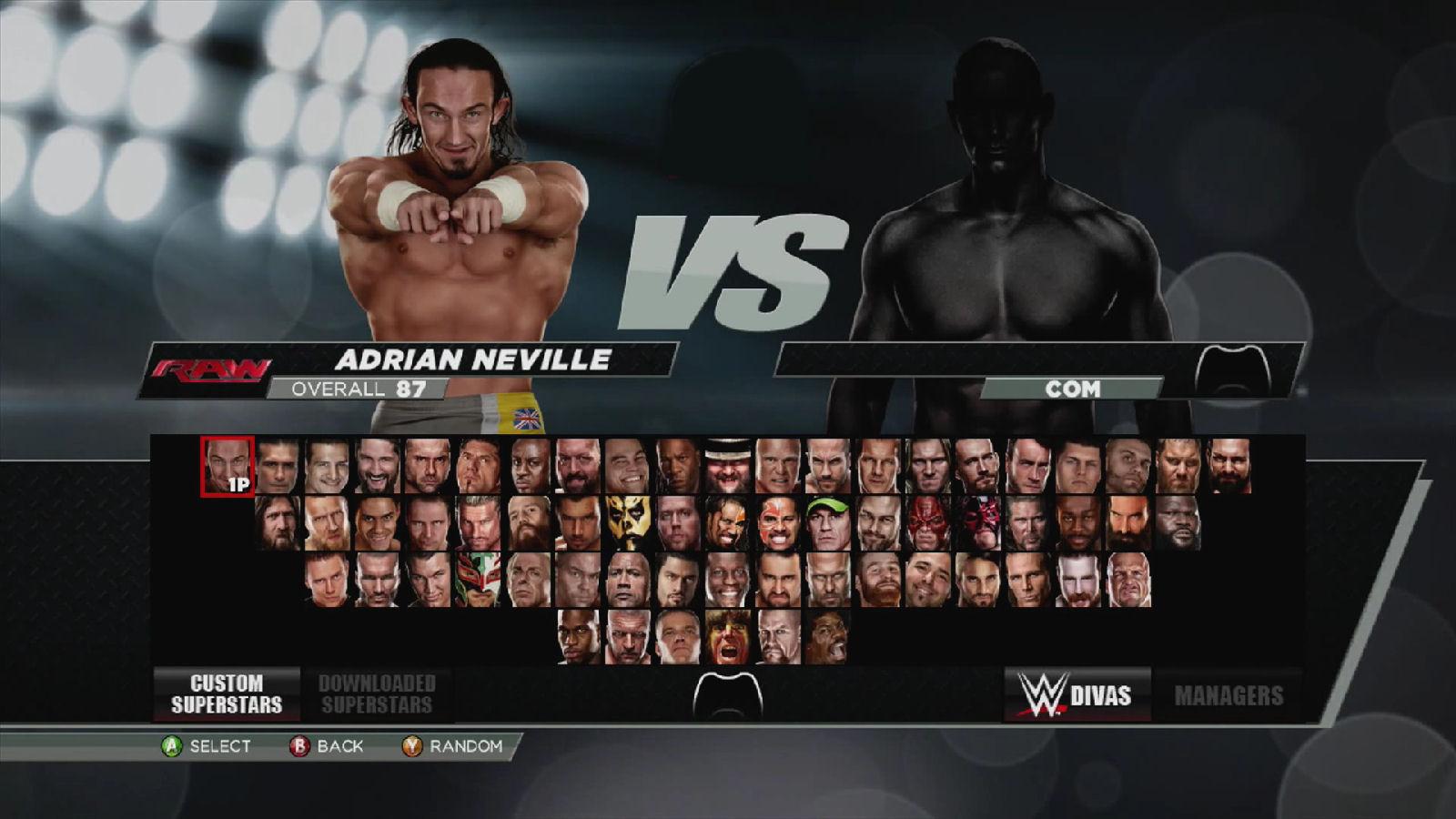 WWE 2K15 Superstars Roster