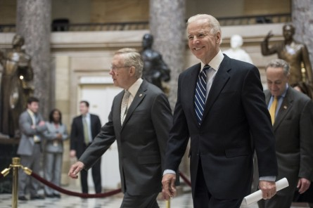 Biden, seen here walking through Statuary Hall in 2013, is reportedly moving toward another presidential bid. (Bill Clark/CQ Roll Call File Photo)