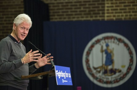 UNITED STATES - FEB. 24 - Former President Bill Clinton speaks at a campaign event for his wife, Hillary Clinton, in Alexandria, Va., Wednesday, Feb. 24, 2016. (Photo By Al Drago/CQ Roll Call)