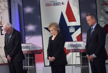 The Paris attacks quickly changed the tone of the presidential debate. (Mandel Ngan/AFP/Getty Images)