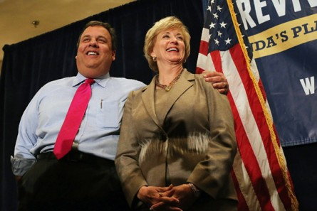 NJ Governor Chris Christie Campaigns With Connecticut Senate Candidate Linda McMahon
