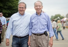 Young campaigned with Grassley at the 2014 Iowa State Fair in Des Moines. (Tom Williams/CQ Roll Call File Photo)