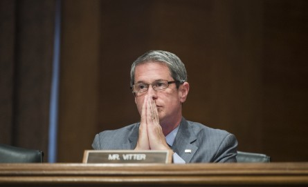 If Vitter is elected Louisiana's next governor, political dominoes there could quickly start to fall.  (Photo By Bill Clark/CQ Roll Call)