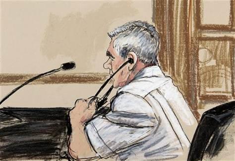 Courtroom sketch of Luis Armando Pena Soltren.