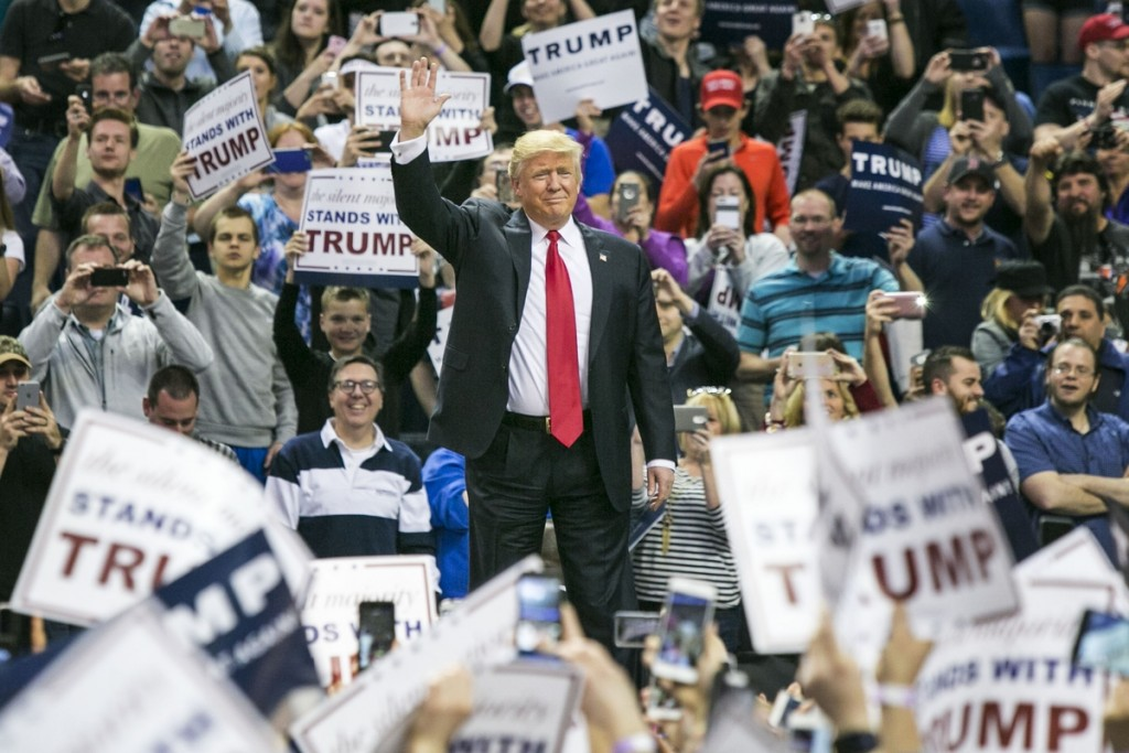 Thousands attended Donald Trump's rally in Buffalo on Monday. (Al Drago/CQ Roll Call)