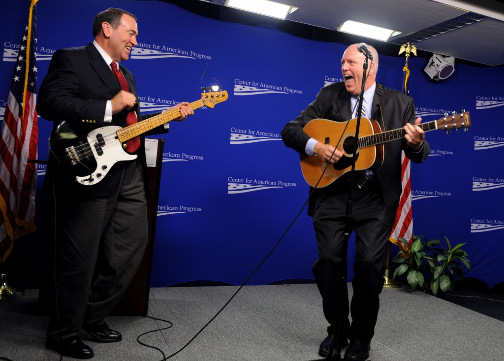 Huckabee, left, and Crowley, right, jammed together before. Could it happen again? (CQ Roll Call File Photo)