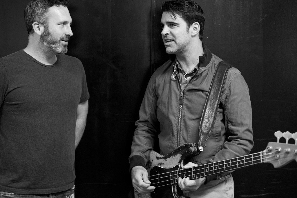 Middle Tennessee State University lecturer Benjamin Sawyer, left, and Avett Brothers bassist Bob Crawford have history together. (Courtesy Crackerfarm)