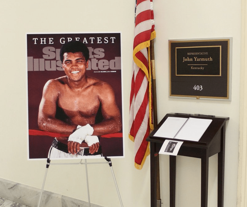 The condolence book outside Yarmuth's office. (Photo courtesy of Yarmuth's twitter)