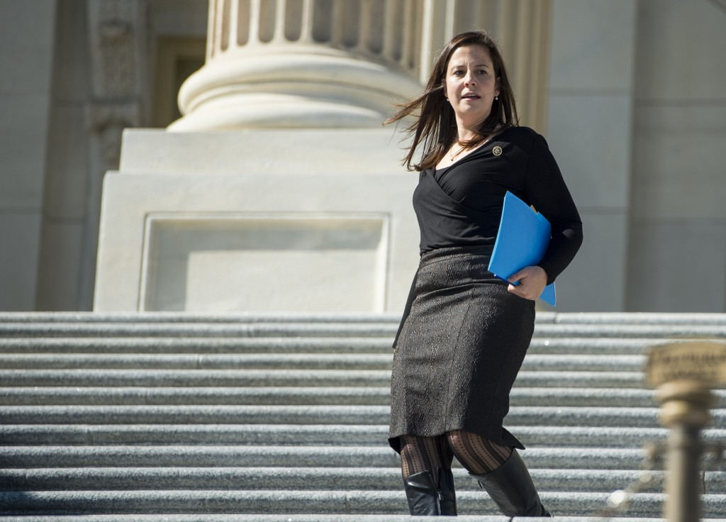 Democrats may find it difficult to dislodge incumbent GOP Rep. Elise Stefanik in New York's 21st District. (Bill Clark/CQ Roll Call file photo)